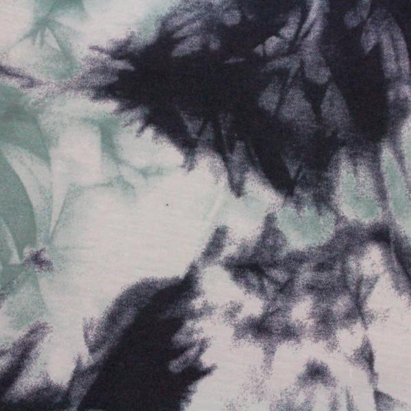 Jersey Stoff Bedruckt Batik Blue