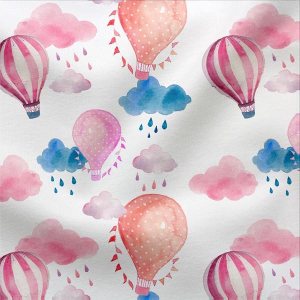 Jerseystoff Digitaldruck Heißluftballons