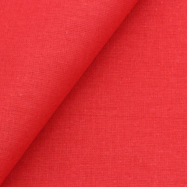 Baumwollstoff Popeline Rot