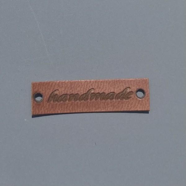 Kunstleder Label Handmade 3,3 x 0,9 cm