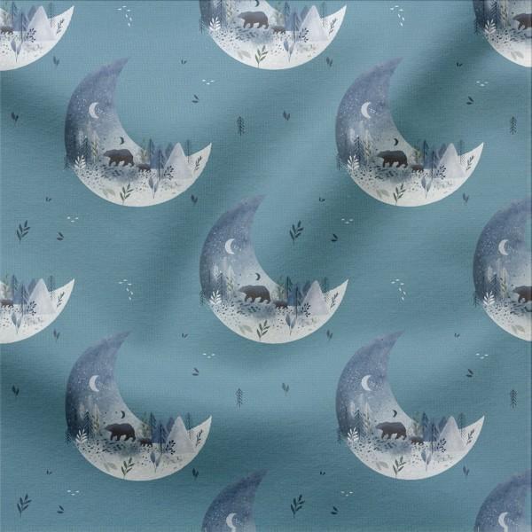 Jerseystoff Digitaldruck Midnight Moon