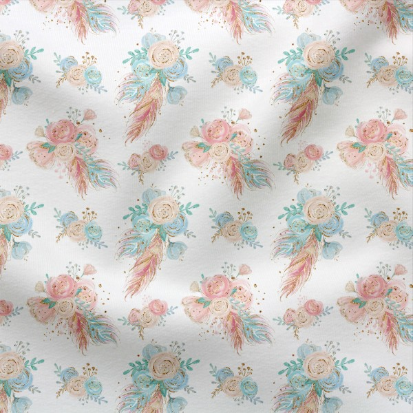 Jerseystoff Digitaldruck Boho Blumenmeer