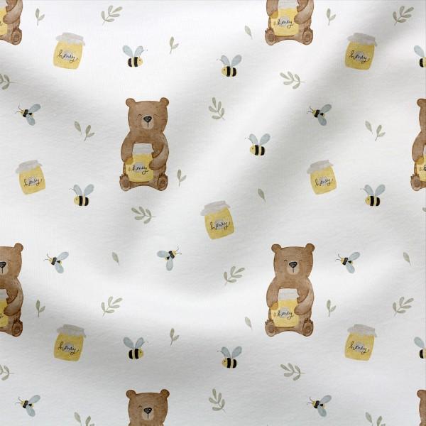Jerseystoff Digitaldruck Honigbär