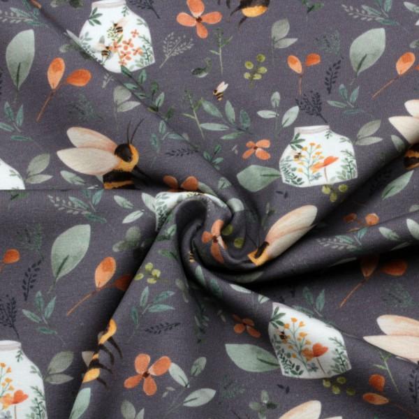 Jerseystoff Digitaldruck Blütenzauber