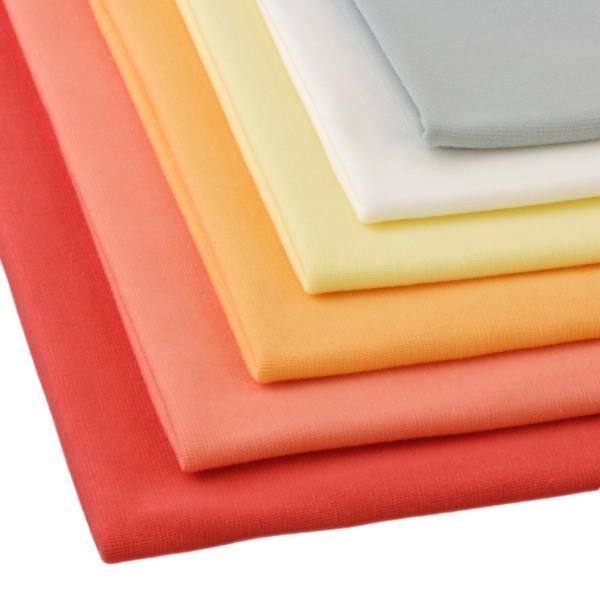 6 x 0,25m Bündchenstoff Set Pastelltöne