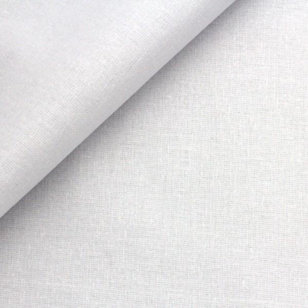 Baumwollstoff Popeline Weiß