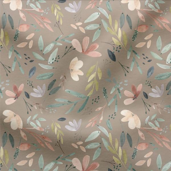 French Terry Digitaldruck Herbstgeflüster