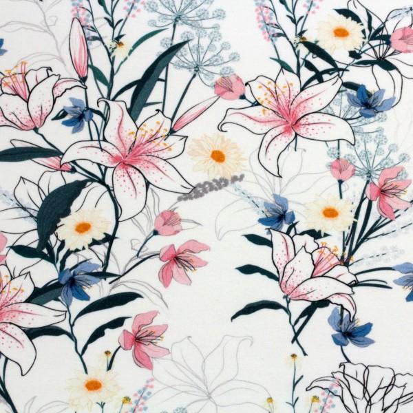 Jerseystoff Digitaldruck Botanischer Traum