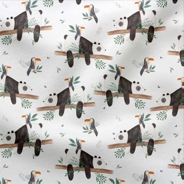 Jerseystoff Digitaldruck Pandapause