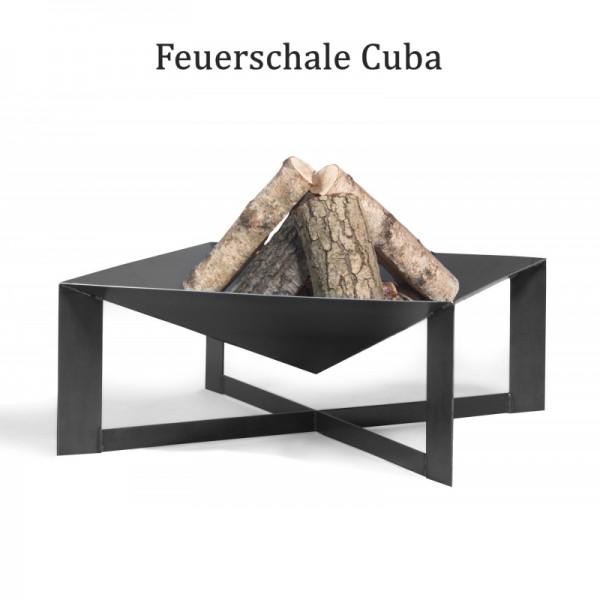 COOK KING Feuerschale Grillschale Cuba 70cm x 70cm BBQ Grill Feuerkorb