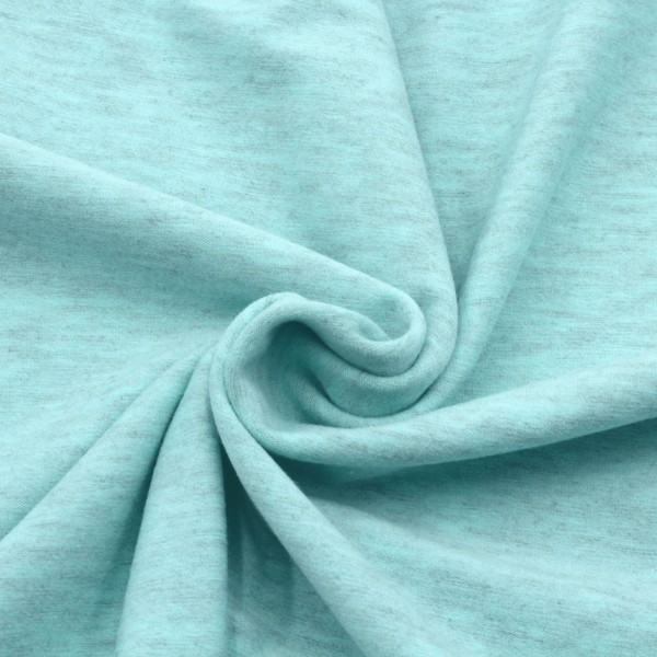 Jersey Stoff Blau Meliert
