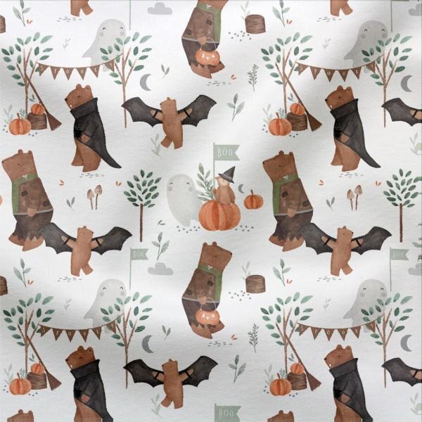 French Terry Digitaldruck Halloween Fun