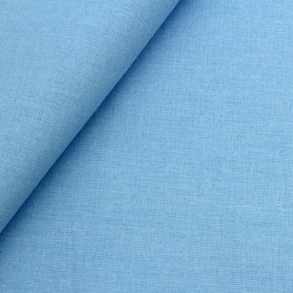 Baumwollstoff Popeline Lichtblau