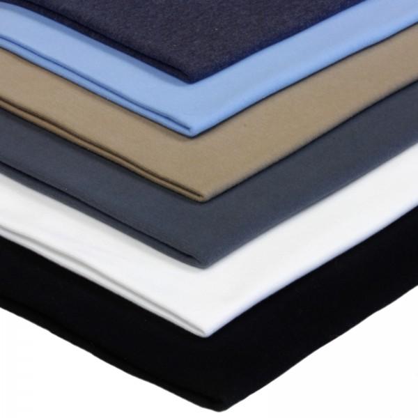 6 x 0,25m Bündchenstoff 150 cm Breit (2 x 70 cm als Schlauch) Basic Farben 2