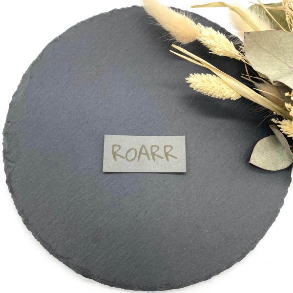Kunstleder Label Roarr Grau 6 x 2,5 cm