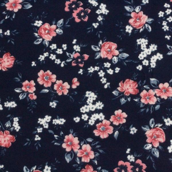 Jersey Stoff Bedruckt Blumenmeer