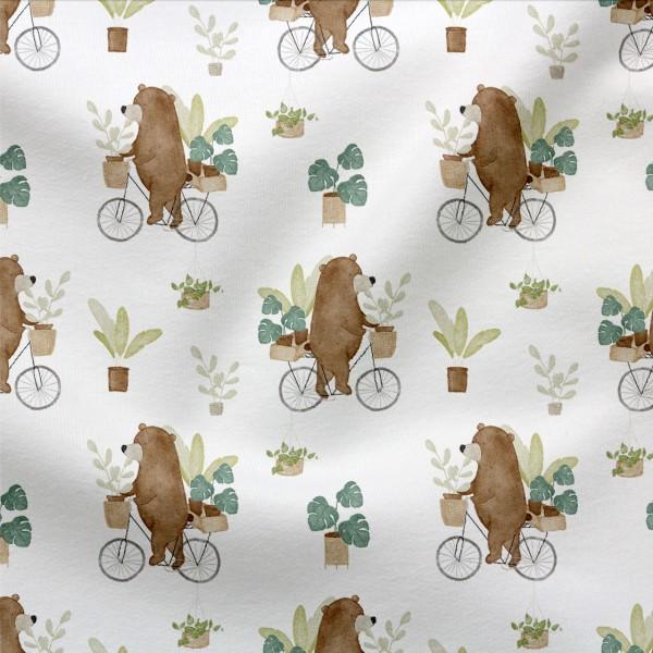Jerseystoff Digitaldruck Fahrradbär