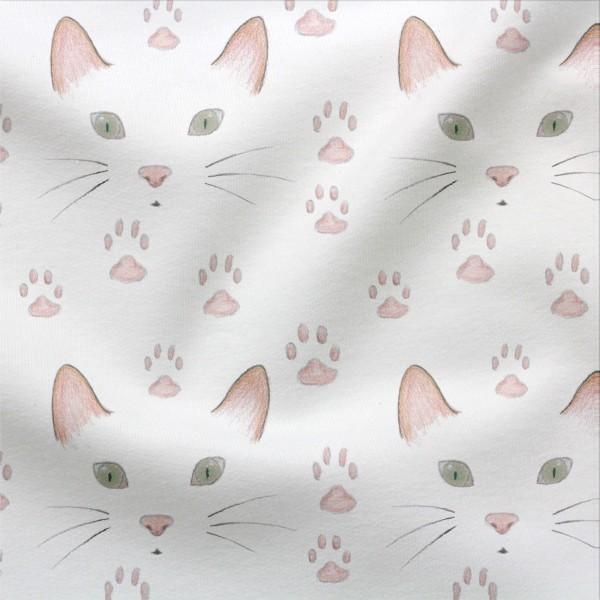 Jerseystoff Digitaldruck Catface