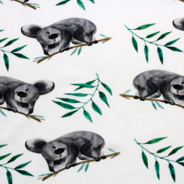 French Terry Digitaldruck Jersey Koala