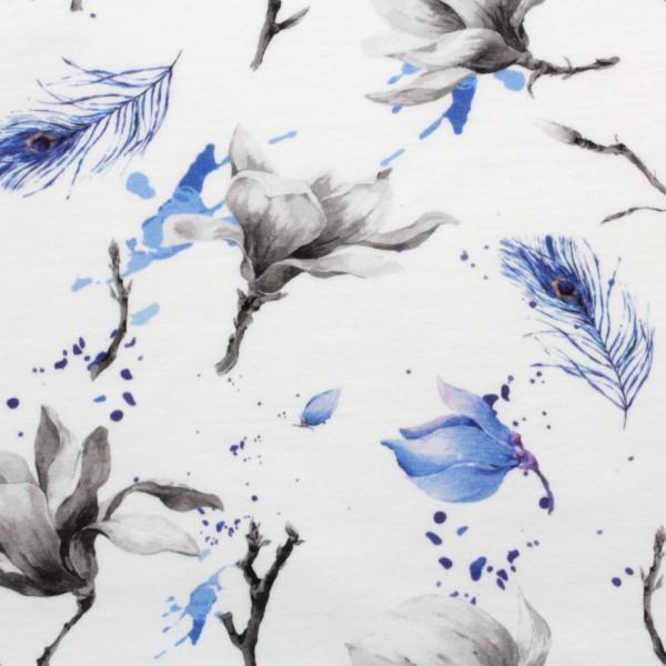 French Terry Digitaldruck Jersey Blue Magnolia