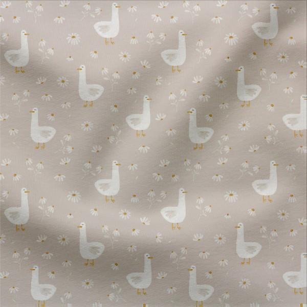 Jerseystoff Digitaldruck Gänseblümchen