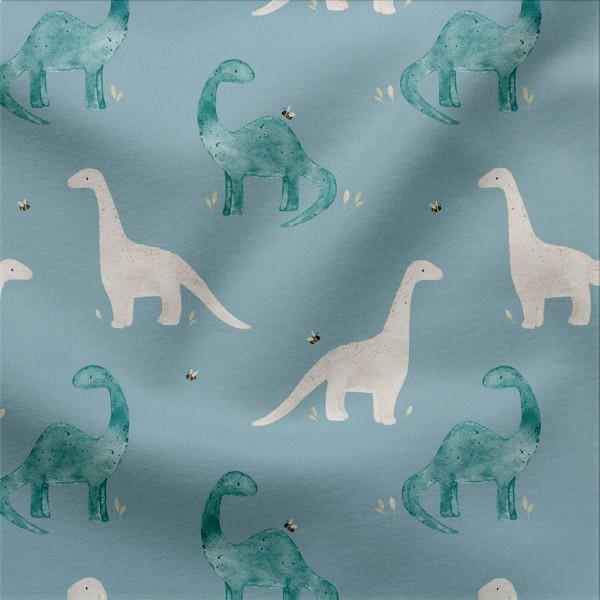 Jerseystoff Digitaldruck Dinoherde