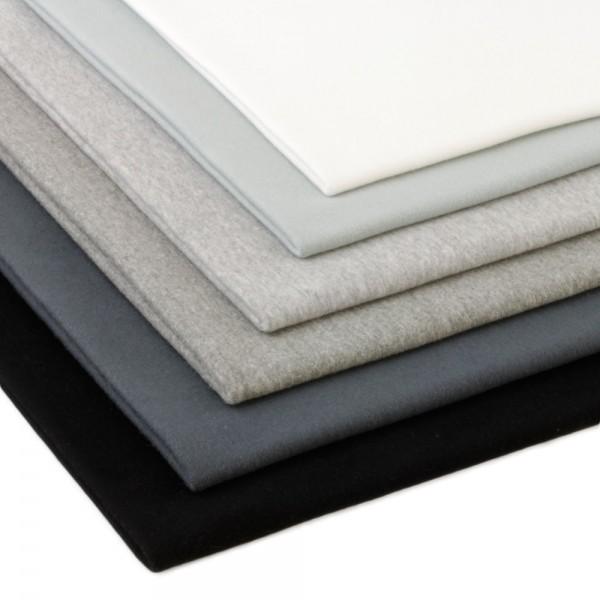 6 x 0,25m Bündchenstoff 150 cm Breit (2 x 70 cm als Schlauch) Basic Farben