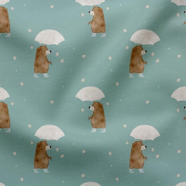 Jerseystoff Digitaldruck Regenbär