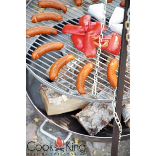 COOK KING BBQ Schwenkgrill Rohstahlrost Feuerschale Bali