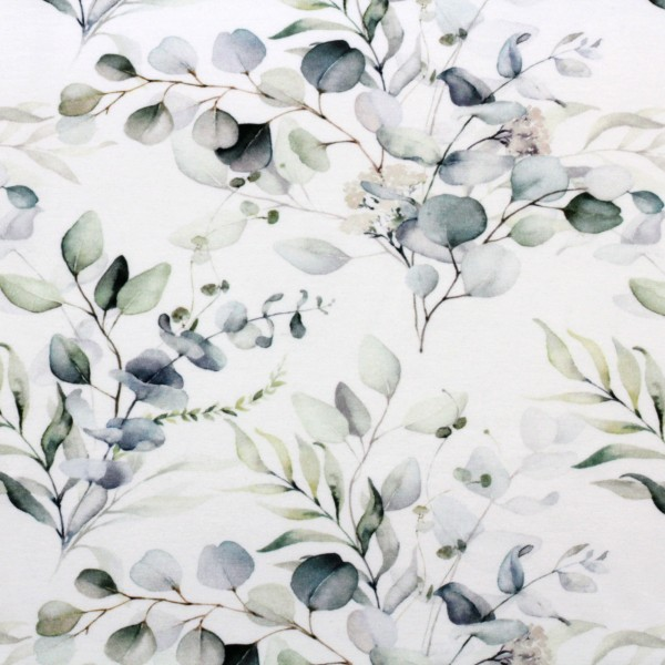Jerseystoff Digitaldruck Eukalyptus