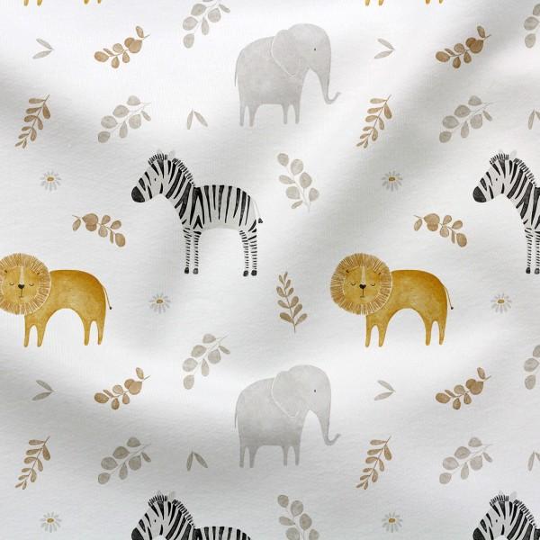 Jerseystoff Digitaldruck Safarisause