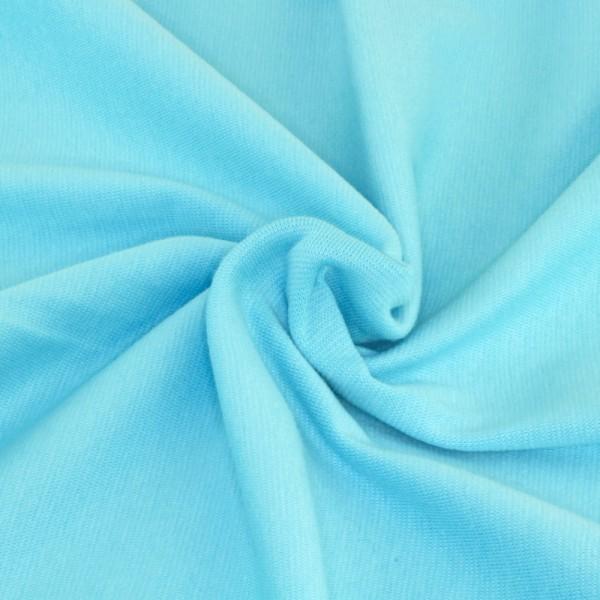 Bündchenstoff Babyblau