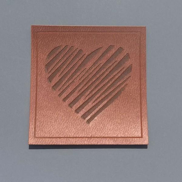 Kunstleder Label Herz 5 x 5 cm