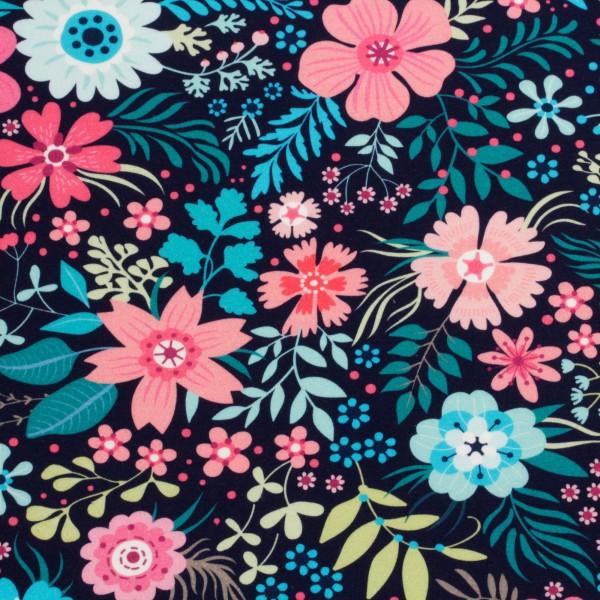 Jerseystoff Digitaldruck Flowerpower