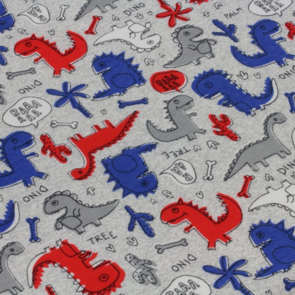Jersey Stoff Bedruckt Dinos