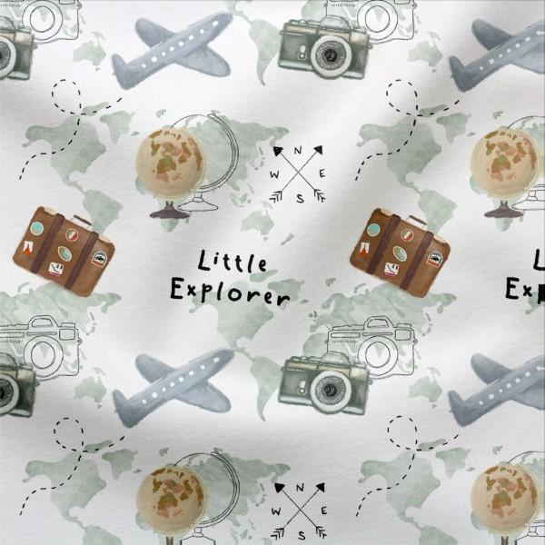 French Terry Digitaldruck Little Explorer