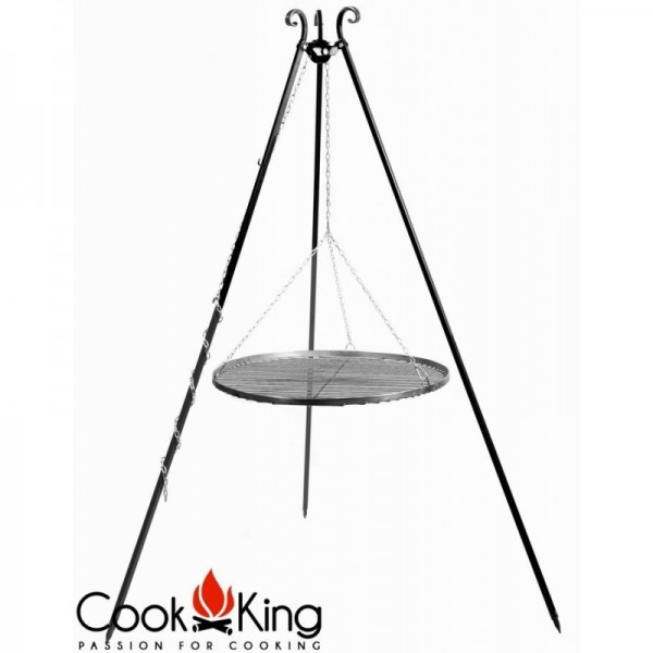 COOK KING BBQ Schwenkgrill mit Edelstahlrost 70cm Grillrost am Dreibein