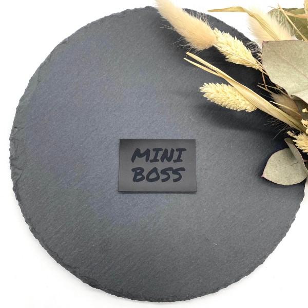 Kunstleder Label Mini Boss 5 x 3,5 cm